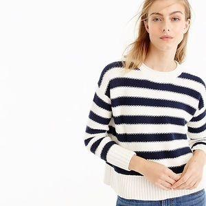 J Crew Textured Strip Sweater